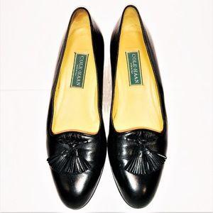 Cole Haan Womens Sz 9.5 AA Black Tassel Flat Loafe